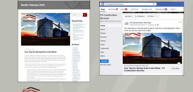 Marketicity social media marketing publicity FS Construction Services